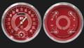 V8 Red Steelie Series Two Gauge Set - Classic Instruments - V8RS62SLC