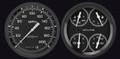 Auto Cross Grey 1954-55 Chevy PU Gauges - Classic Instruments - CT54AXG52