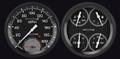 AutoCross Grey 54-55 Chevy PU Gauges w/Speedtachular - Classic Instruments - CT54AXG62