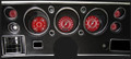 V8 Red Steelie 1970-72 Chevelle SS / Monte Carlo / El Camino Gauges - Classic Instruments - CV70V8RS