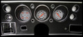 Velocity Series White 1970-72 Chevelle SS / Monte Carlo / El Camino Gauges - Classic Instruments - CV70VSW