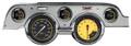 Auto Cross Yellow 1967-68 Mustang Gauges - Aluminum Bezel - Classic Instruments - MU67AXYBA