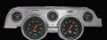 Hot Rod 1967-68 Mustang Gauges - Aluminum Bezel - Classic Instruments - MU67HRBA