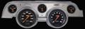 Velocity Black 1967-68 Mustang Gauges - Aluminum Bezel - Classic Instruments - MU67VSBBA