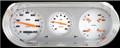 Velocity White 1963-65 Nova Gauges - Classic Instruments - NO63VSW