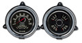 New Vintage Black Woodward 1954 Chevy PU 2 Gauge Kit - Speed/Tach~Quad - 54373-01