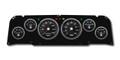 New Vintage Black Performance 64-66 Chevy PU 6 Gauge Kit Prog Speedo - 64011-01