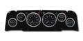 New Vintage Black 1940 Series 64-66 Chevy PU 6 Gauge Kit Prog Speedo - 64401-01