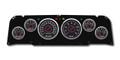 New Vintage Black 67 Series 64-66 Chevy PU 6 Gauge Kit Prog Speedo - 64671-01