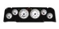 New Vintage White Performance 64-66 Chevy PU 6 Gauge Kit Prog Speedo - 64011-03