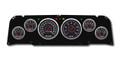 New Vintage Black 67 Series 64-66 Chevy PU 6 Gauge Kit Mech Speedo - 64670-01