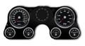 New Vintage Black Performance 67-72 Chevy PU Gauge Kit - 73011-01