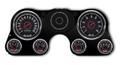 New Vintage Black 67 Series 67-72 Chevy PU Gauge Kit - 73671-01