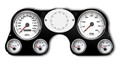 New Vintage White Performance Series 67-72 Chevy PU Gauge Kit - 73011-03