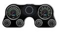 New Vintage Black 69 Series 67-72 Chevy PU Gauge Kit - 73691-01