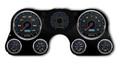 New Vintage Black CFR Blue Series 67-72 Chevy PU Gauge Kit - 73201-05