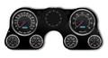 New Vintage Black Aviator Series 67-72 Chevy PU Gauge Kit - 73441-01