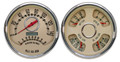 "New Vintage Beige Woodward Series 2 Gauge Kits - Speedo/Tach/Quad ~ 4-3/8"" - 37215-02"