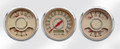 "New Vintage Beige Woodward Series 3 Gauge Kits - Speedo/Duals ~ 3-3/8"" - 37335-02"