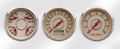 "New Vintage Beige Woodward Series 3 Gauge Kits - Speedo/Tach/Quad ~ 3-3/8"" - 37336-02"