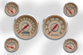"New Vintage Beige Woodward Series 6 Gauge Kits ~ 3 3/8"" - 2 1/16"" - 37604-02"