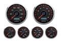 "New Vintage CFR Redline Series 6 Gauge Kit ~ 3 3/8"" Speedo/Tach - 20649-01"