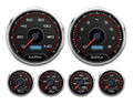 "New Vintage CFR Redline Series 6 Gauge Kit ~ 4 3/8"" Speedo/Tach - 20659-01"