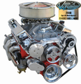 Vintage Air Front Runner Engine Drive System - Bright & Chrome Small Block Chevy with Power Steering - LESS Power Steering Pump - 174022