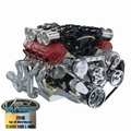 Vintage Air Front Runner Engine Drive System - Bright & Chrome Big Block Chevy with Power Steering - Includes Pump - 172020