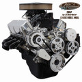 Vintage Air Front Runner Engine Drive System - Black & Chrome Small Block Ford with Power Steering - Includes Pump - 176020