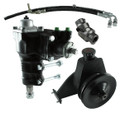 Borgeson Power Steering Conversion Kit - 66-77 Ford Bronco with Factory Manual Steering & Inline 6 Cylinder