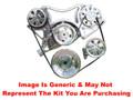 VIPS - Turbo Trac Serpentine Drive System - Big Block Chevy - Polished w/ 140 Amp Alternator & Power Steering