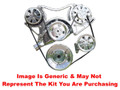 VIPS - Turbo Trac Serpentine Drive System - Big Block Chevy - Not Polished w/ Power Steering