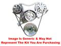 VIPS - Turbo Trac Serpentine Drive System - Big Block Chevy - Polished w/ AC Hardline w/o Power Steering