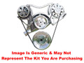 VIPS - Turbo Trac Serpentine Drive System - Big Block Chevy - Not Polished w/ AC Hardline & 140 Amp Alternator w/o Power Steering