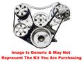 VIPS - Turbo Trac Serpentine Drive System - Small Block Ford - Not Polished w/ Power Steering