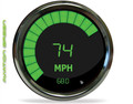 Intellitronix ~ LED Bargraph Speedometer Tach Combo w/ Chrome Bezel - Green