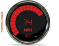 Intellitronix ~ LED Bargraph Speedometer Tach Combo w/ Chrome Bezel - Red