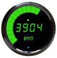 Intellitronix ~ LED Mult-Function Programmable Tachometer w/ Chrome Bezel - Green