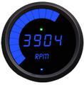 Intellitronix ~ LED Mult-Function Programmable Tachometer w/ Black Bezel - Blue