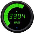 Intellitronix ~ LED Mult-Function Programmable Tachometer w/ Black Bezel - Green