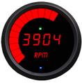 Intellitronix ~ LED Mult-Function Programmable Tachometer w/ Black Bezel - Red