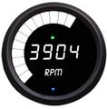 Intellitronix ~ LED Mult-Function Programmable Tachometer w/ Black Bezel - White