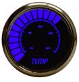 Intellitronix ~ LED Analog Bargraph Temp Gauge in Chrome Bezel - Blue