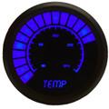 Intellitronix ~ LED Analog Bargraph Temp Gauge in Black Bezel - Blue