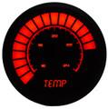 Intellitronix ~ LED Analog Bargraph Temp Gauge in Black Bezel - Red