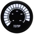 Intellitronix ~ LED Analog Bargraph Temp Gauge in Black Bezel - White