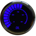 Intellitronix ~ LED Analog Bargraph Oil Pressure in Chrome Bezel - Blue