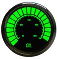 Intellitronix ~ LED Analog Bargraph Oil Pressure in Chrome Bezel - Green