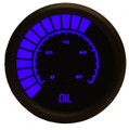Intellitronix ~ LED Analog Bargraph Oil Pressure in Black Bezel - Blue